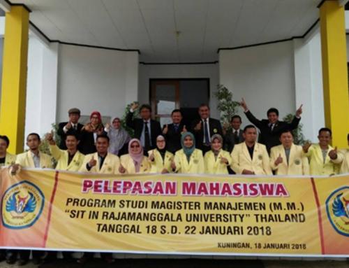 """14 Mahasiswa Magister Manajemen """"SIT IN"""" ke RUTK Thailand"""